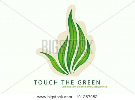 green leaves of grass as a gesture fuck off