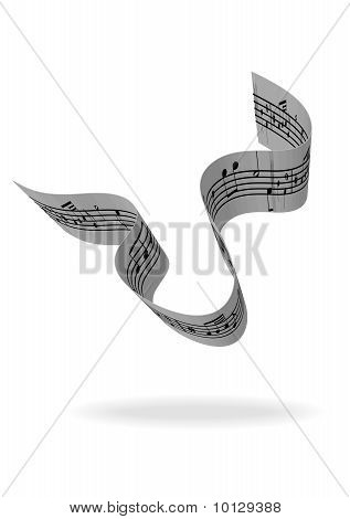 Illustration of an abstract music-sheet