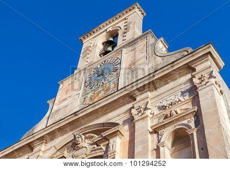 Church of Santissima Annunziata exterior fragment. Gaeta Italy poster
