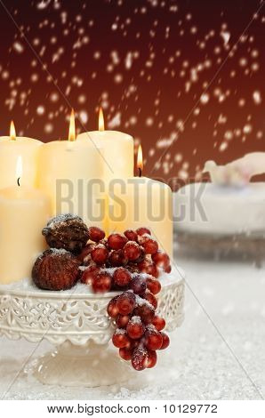 Christmas Still Life With Grapes
