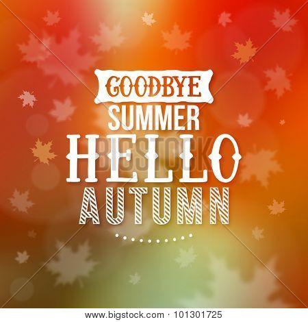 Hello Autumn illustration