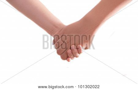 Two Best Friends Holding Hands