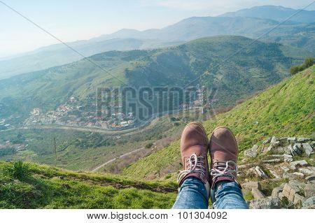 Boots In Amphitheater Of Pergamon