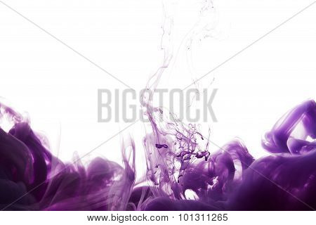 Abstract Splash Of Purple Paint
