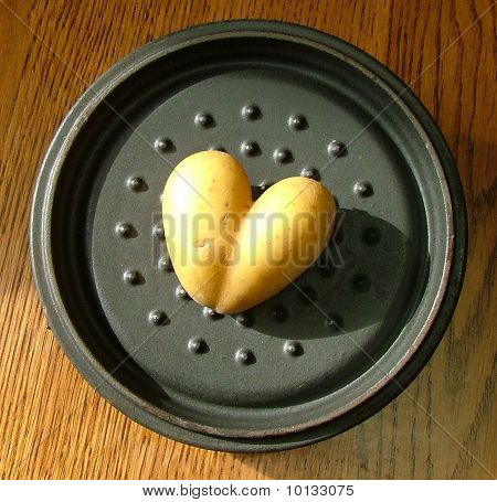 Potato Shaped Like A Valentines Heart
