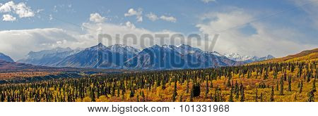 Chugach Mountains Along The Glenn Highway