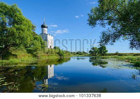 Church Of Intercession On Nerl Near Village Bogolubovo, Vladimir Region, Russia