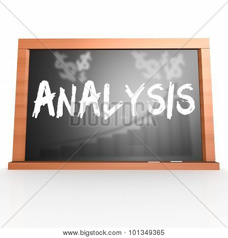 Black Board With Analysis Word