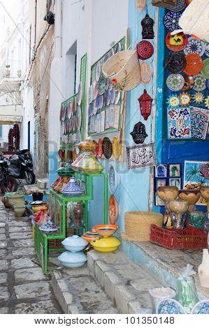 a photo of some ceramic in tunesia
