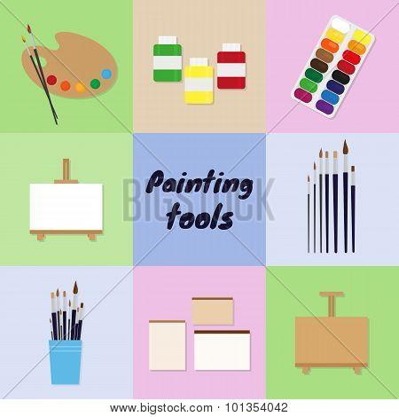 Painting Tools Set.