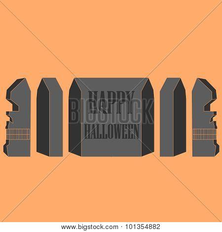 profile skull. halloween. vector illustration.
