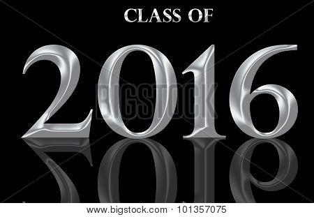 Graduating class of 2016 on black background