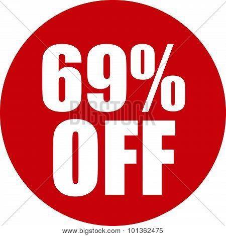 69 Percent Off Icon
