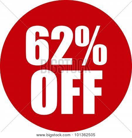 62 Percent Off Icon