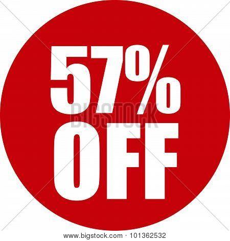57 Percent Off Icon