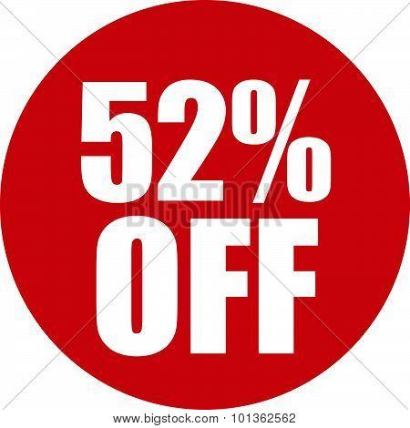 52 Percent Off Icon