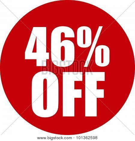 46 Percent Off Icon