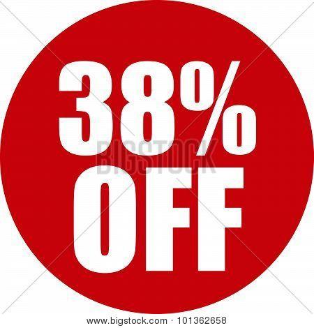 38 Percent Off Icon