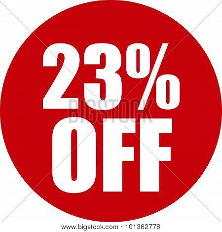 23 Percent Off Icon