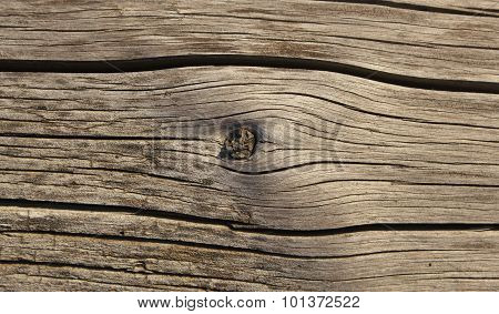Old Shaky Wood Plank With Khot Texture