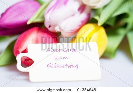 Alles Gute zum Geburtstag - the german words for happy birthday