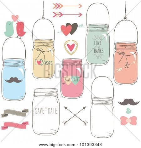 Vintage Wedding Mason Jar