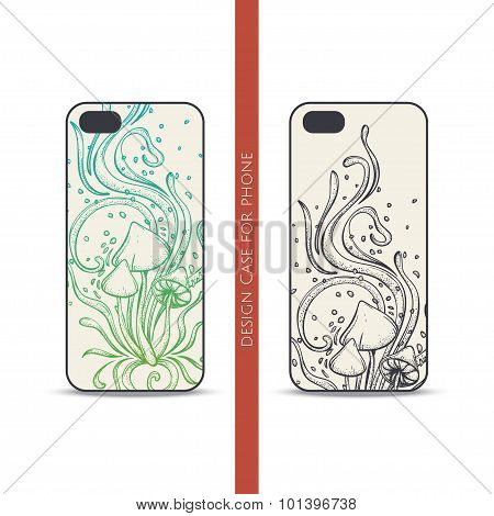 Design Case for Phone Abstract Mushroom Four