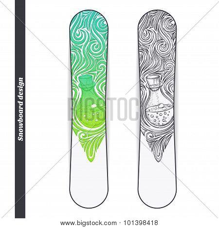Snowboard Design Alchemical Bottle