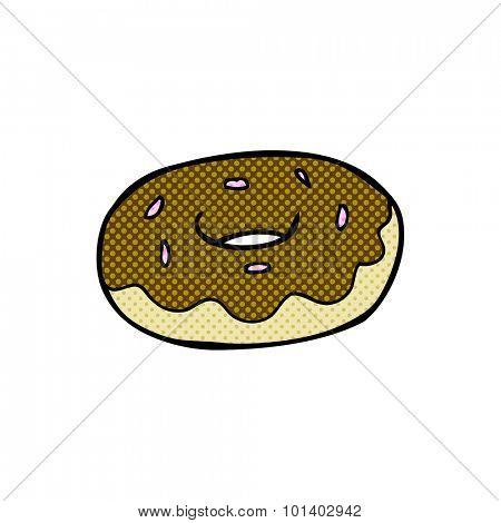 comic book style cartoon donut