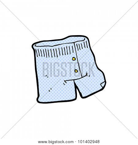 comic book style cartoon underwear