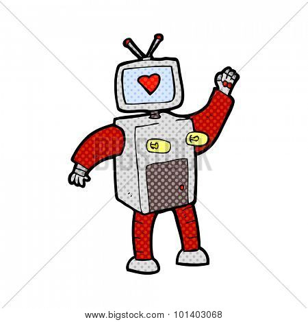 comic book style cartoon funny robot