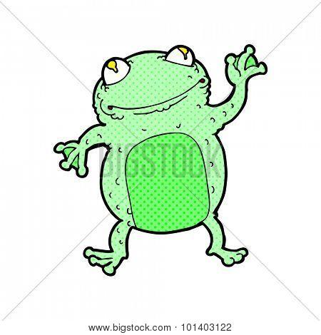 comic book style cartoon frog