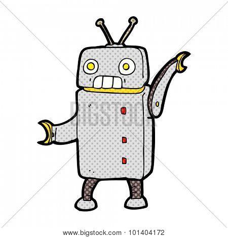 comic book cartoon funny robot