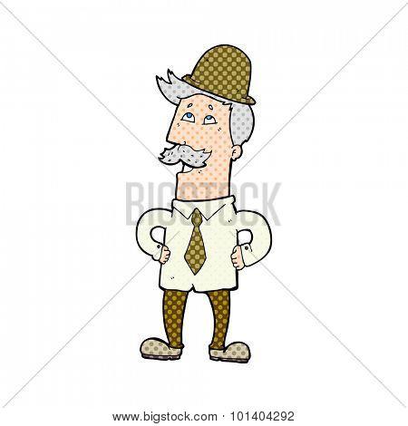 comic book cartoon old man