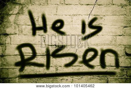 He Is Risen Concept
