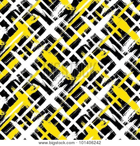 Pattern with stripes and crosses