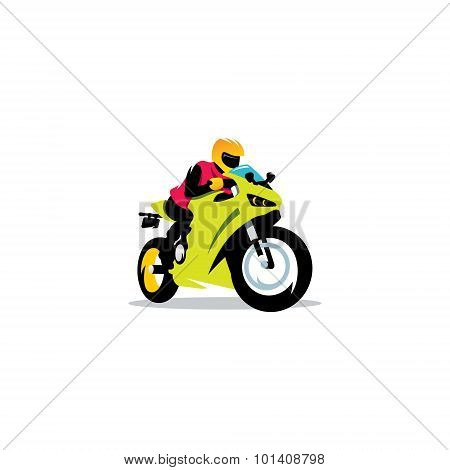 Motorcycle Races Sign. Vector Illustration.
