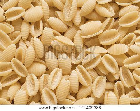 Italian Uncooked Gnocchetti Sardi Pasta Food Background