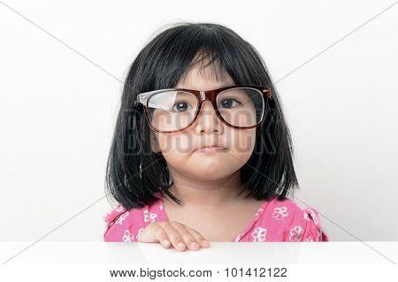 Nerd little girl portrait
