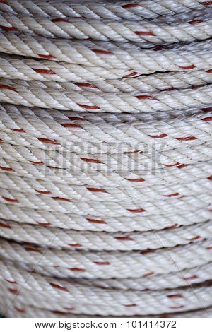 Close up of rope coil texture background poster