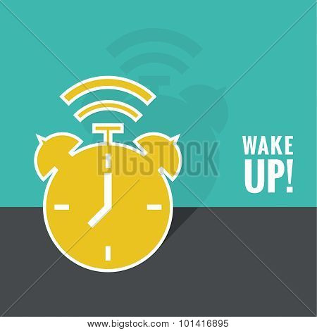 Background with alarm clock.
