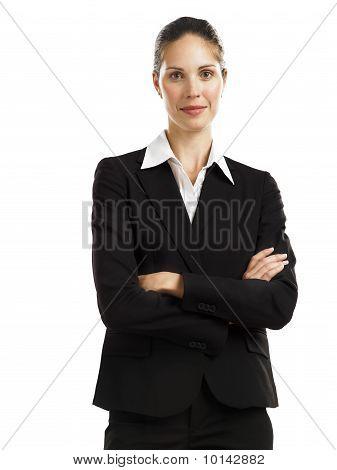 business woman black suit