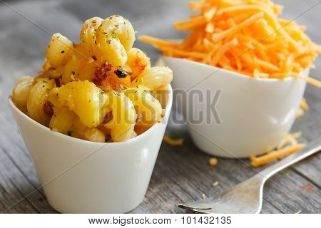 mac and Cheese - macaroni and cheese side view