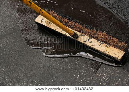 Driveway paving blacktop sealing