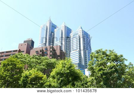 Business buildings and apartments