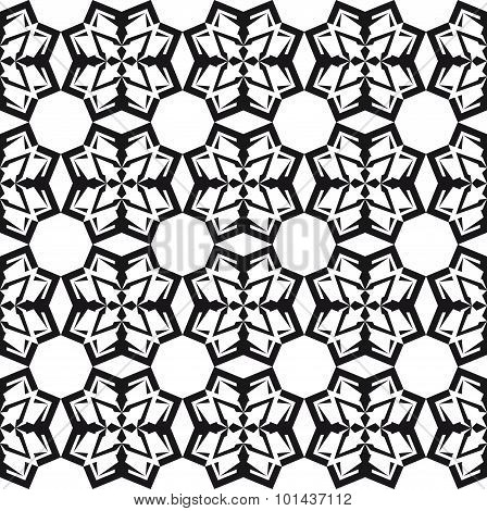 Geometrical Abstract Patten Black And White, set