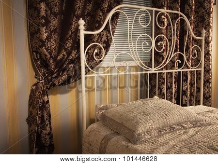 The Bed In The Elegant Bedroom