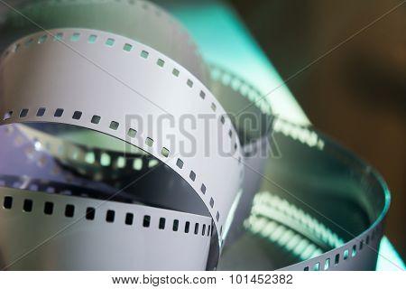 Negative 35 Mm Film. Spun Photographic Film