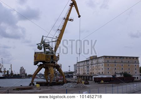 Sea Port Of Burgas