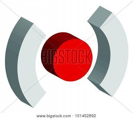 Red Target Mark, Crosshair, Reticle Graphics. Vector.